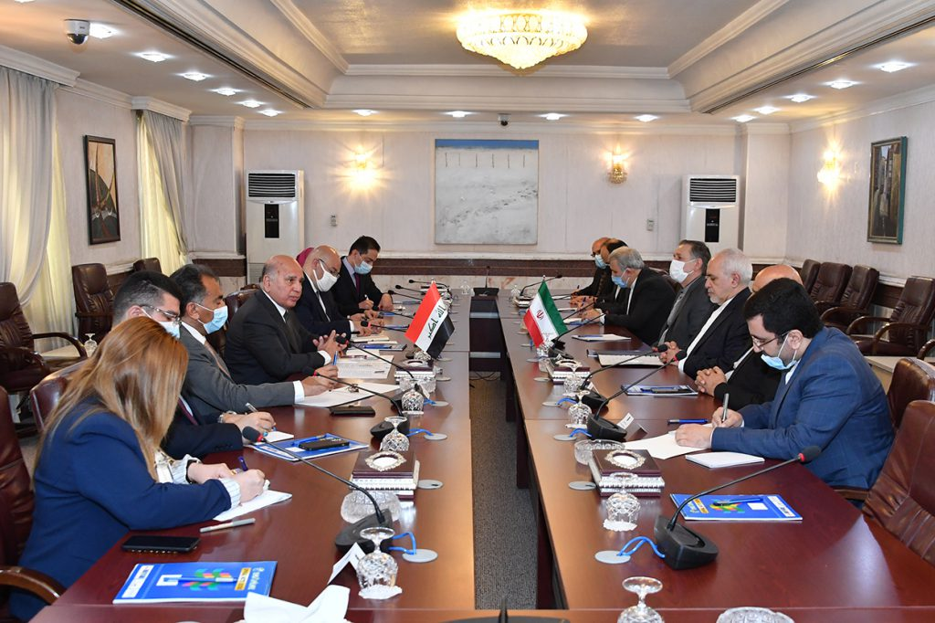 During his meeting with the Iranian Foreign Minister .. Fuad Hussein: The Iraqi government plays a pivotal role in resolving the crises afflicting the region, and an active element in achieving calm and stabilization DSC_6440-1024x682