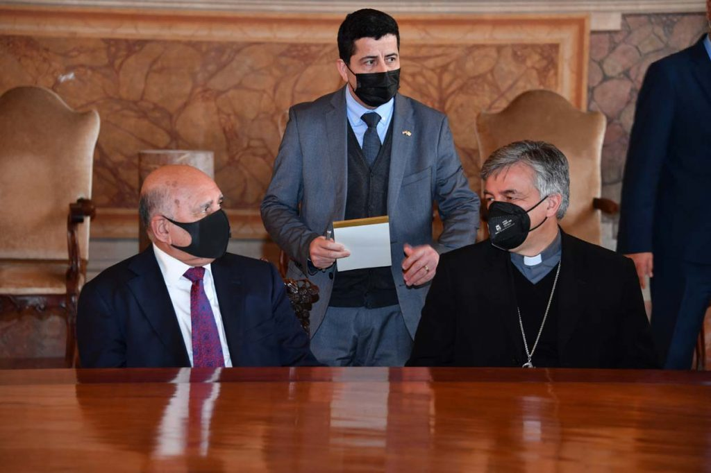 Foreign Minister: Our visit to the Vatican is to follow up on the results of His Holiness's visit in various fields and to translate them into projects and to thank His Holiness for visiting Iraq WhatsApp-Image-2021-05-04-at-4.57.35-PM-1024x682